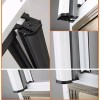 无锡铝合金隐形纱窗 防蚊防虫纱窗 隐形纱窗生产厂家 雷克斯供